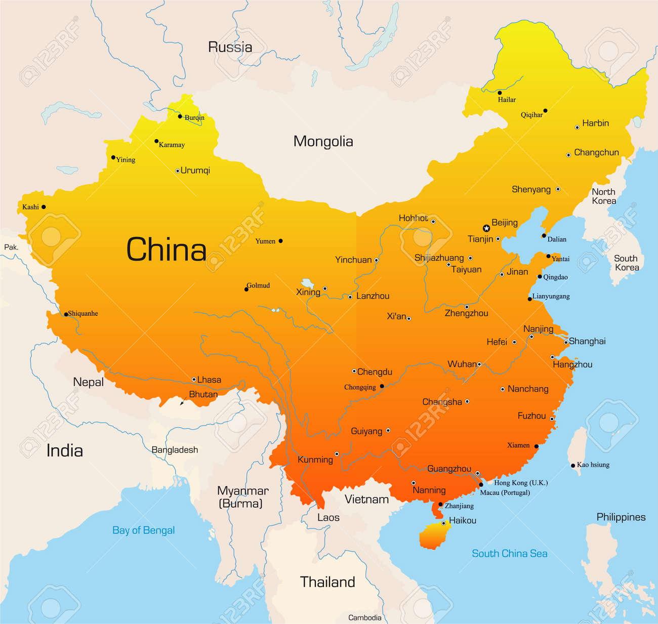 Resultado de imagen para mapa de china