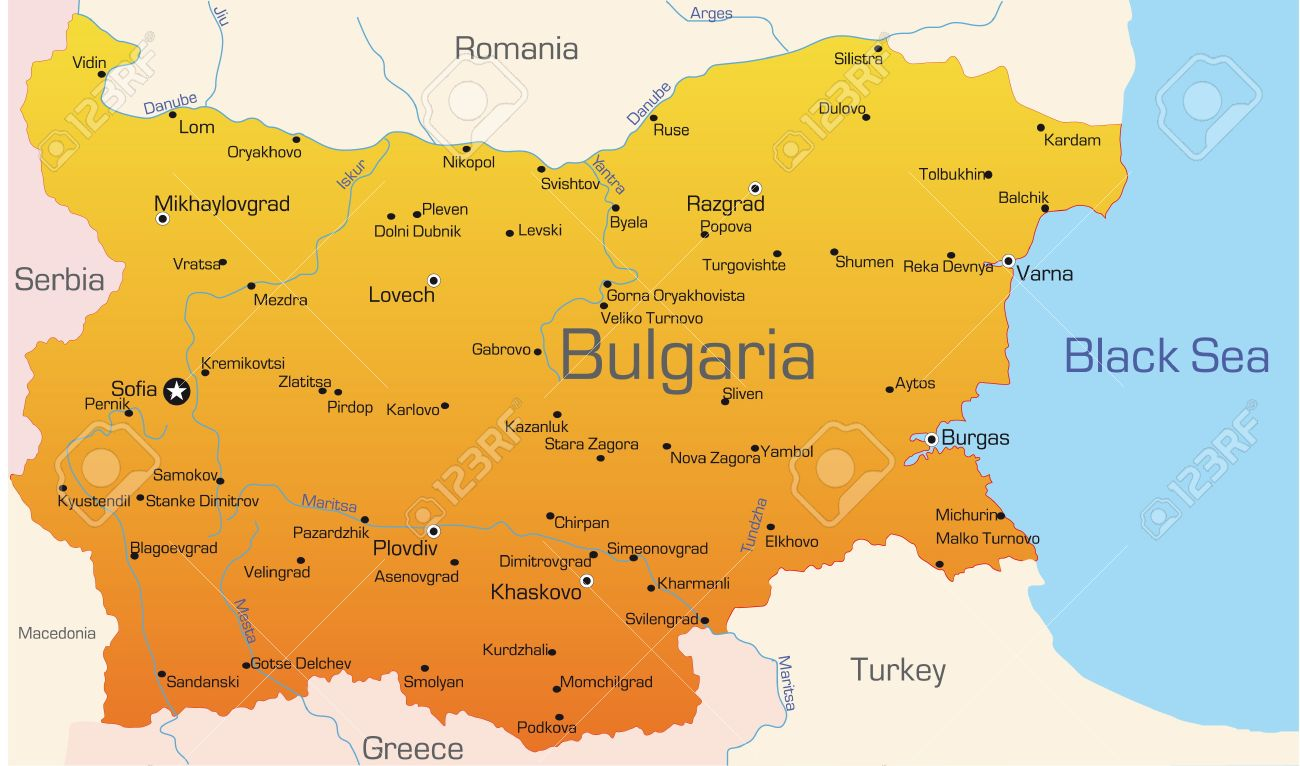 Abstract vector color map of Bulgaria country Stock Vector - 3479341
