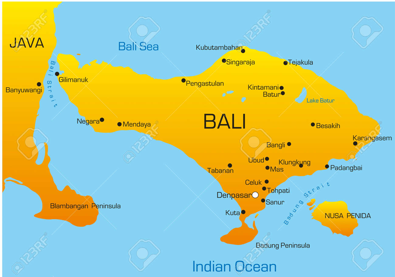 Vector Map Of Bali Country Royalty Free Cliparts, Vectors, And Stock ...