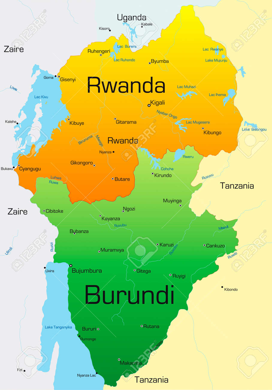 Abstract vector color map of rwanda and burundi country royalty free abstract vector color map of rwanda and burundi country stock vector 3529191 gumiabroncs Images