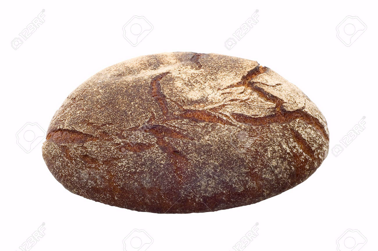 Loaf of bread on white background Stock Photo - 3542848