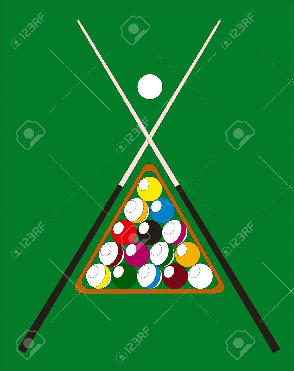 Abstract vector billiard pool illustration Stock Vector - 3578098