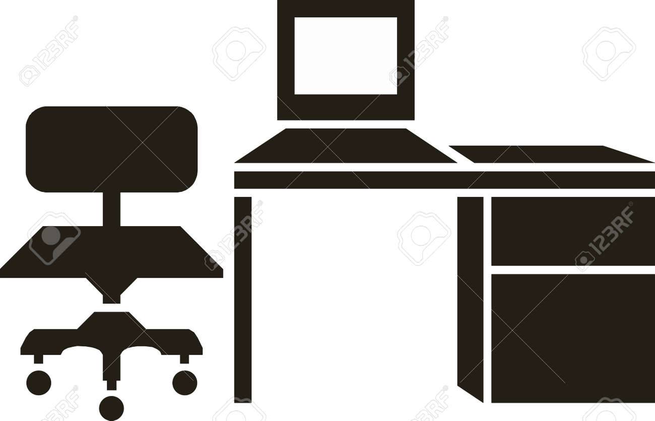 Swell Abstract Vector Illustration Of Office Furniture Download Free Architecture Designs Embacsunscenecom