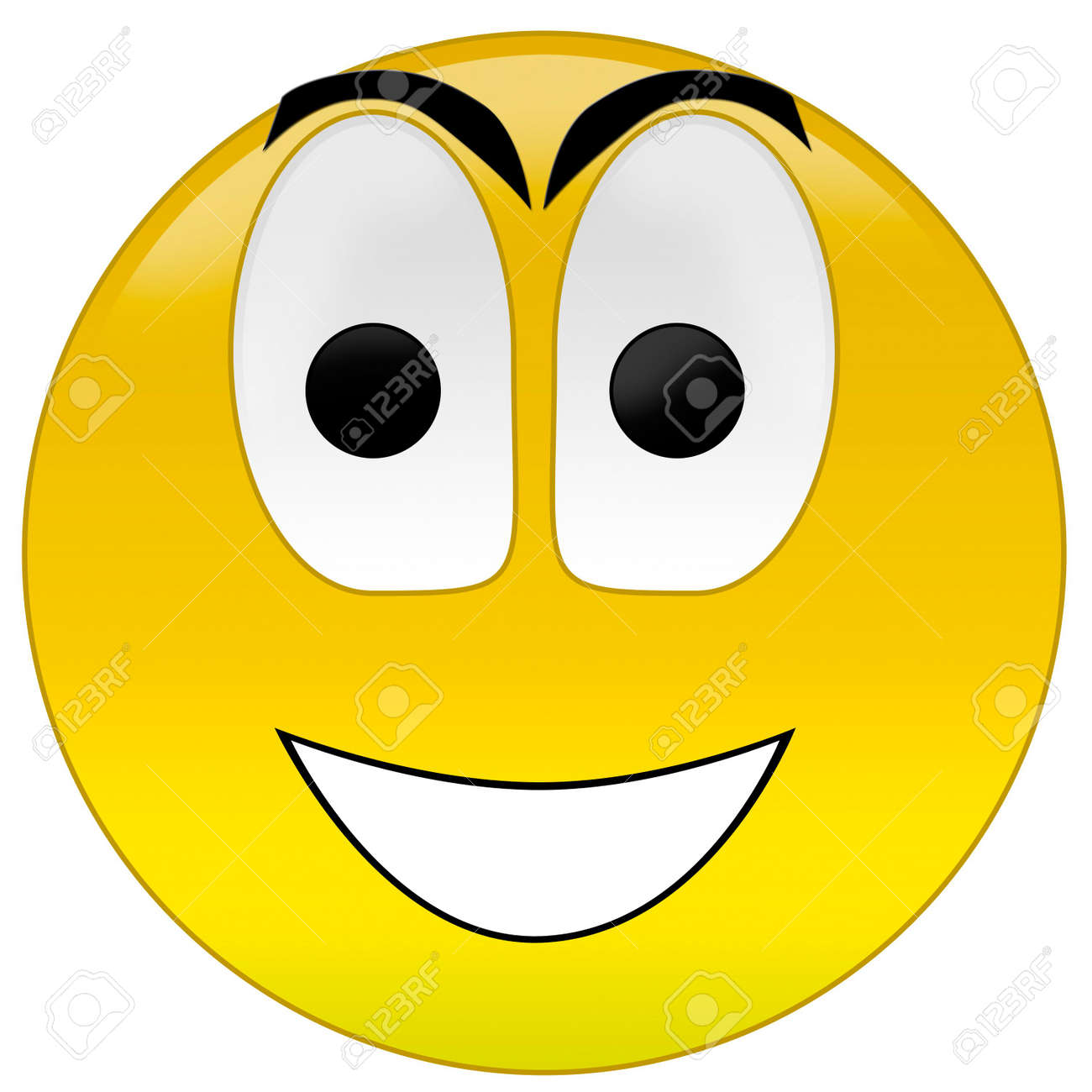 3d rendering happy smiley Stock Photo - 3700903