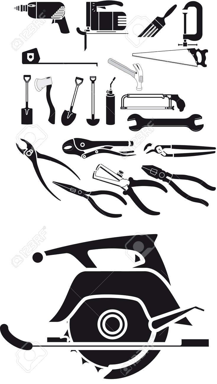 Collection of tool vector Stock Vector - 3799863