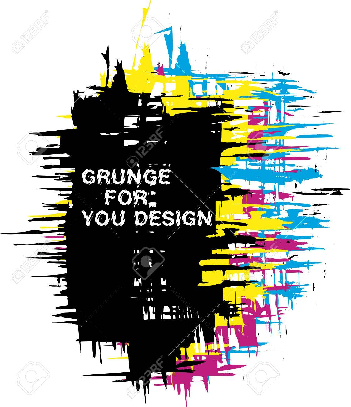 Abstract vector grunge background as CMYK color Stock Vector - 3890594