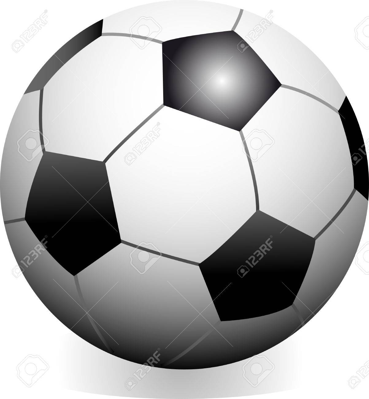 Vector soccer game ball isolated on white background Stock Vector - 4262917