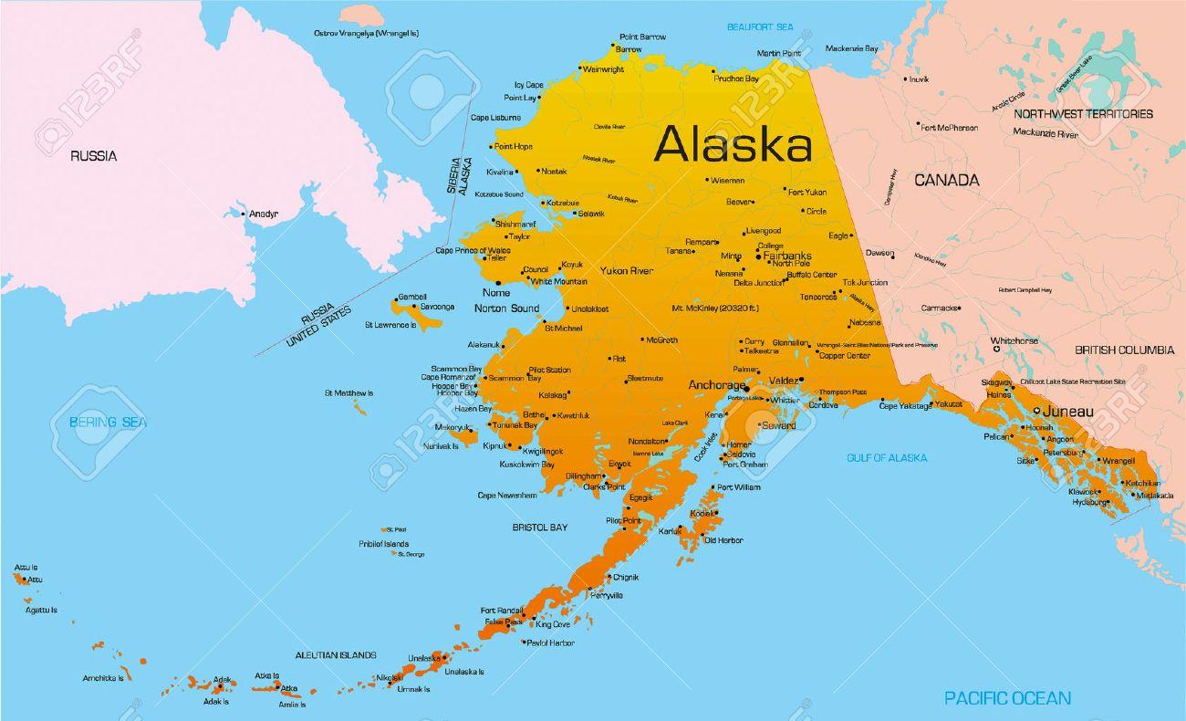 Alaska Map Overlay Continental Us Wall HD - Alaska superimposed on us map