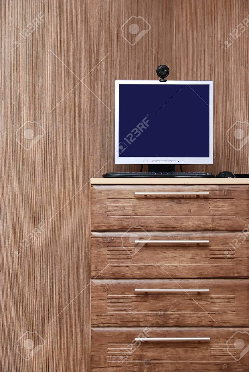 Modernes Interieur Zimmer. Holz-Stil. Lizenzfreie Fotos, Bilder Und ...