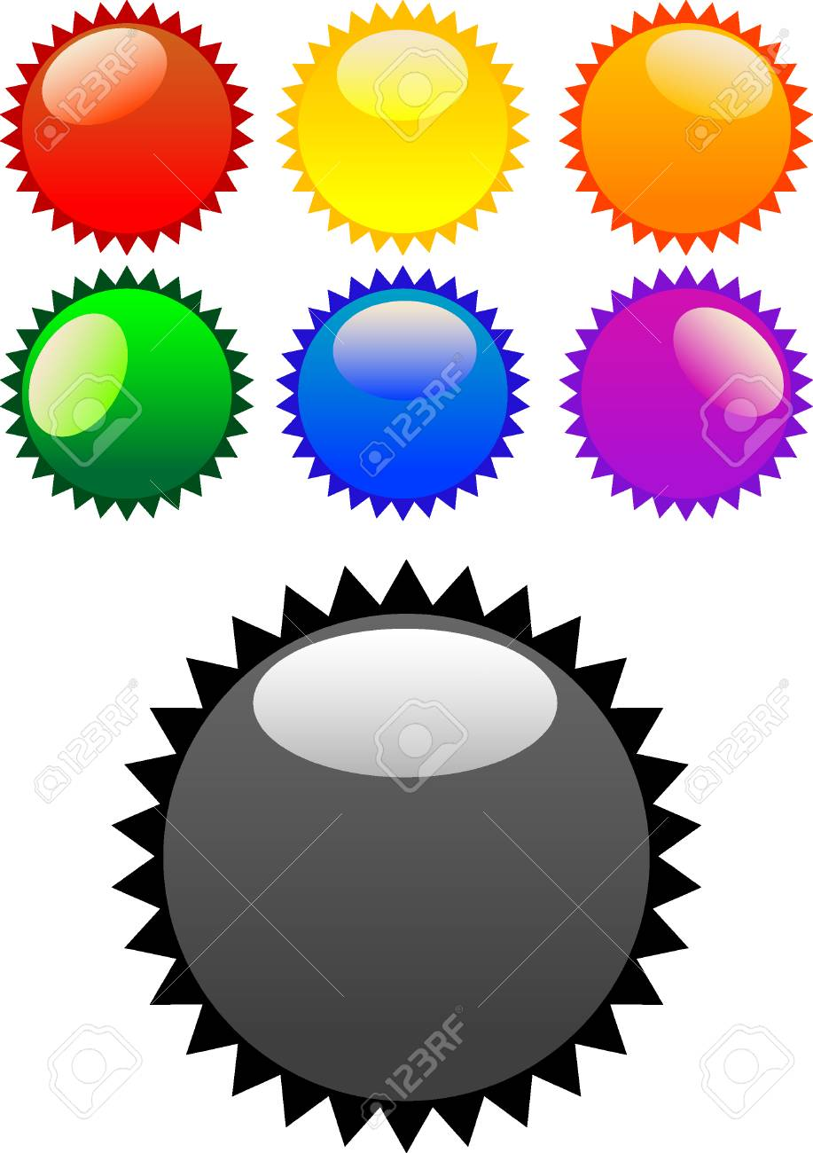Vector color glossy stickers on white Stock Vector - 4965977