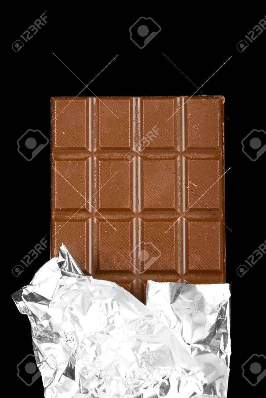 chocolate bar on black background Stock Photo - 5168112