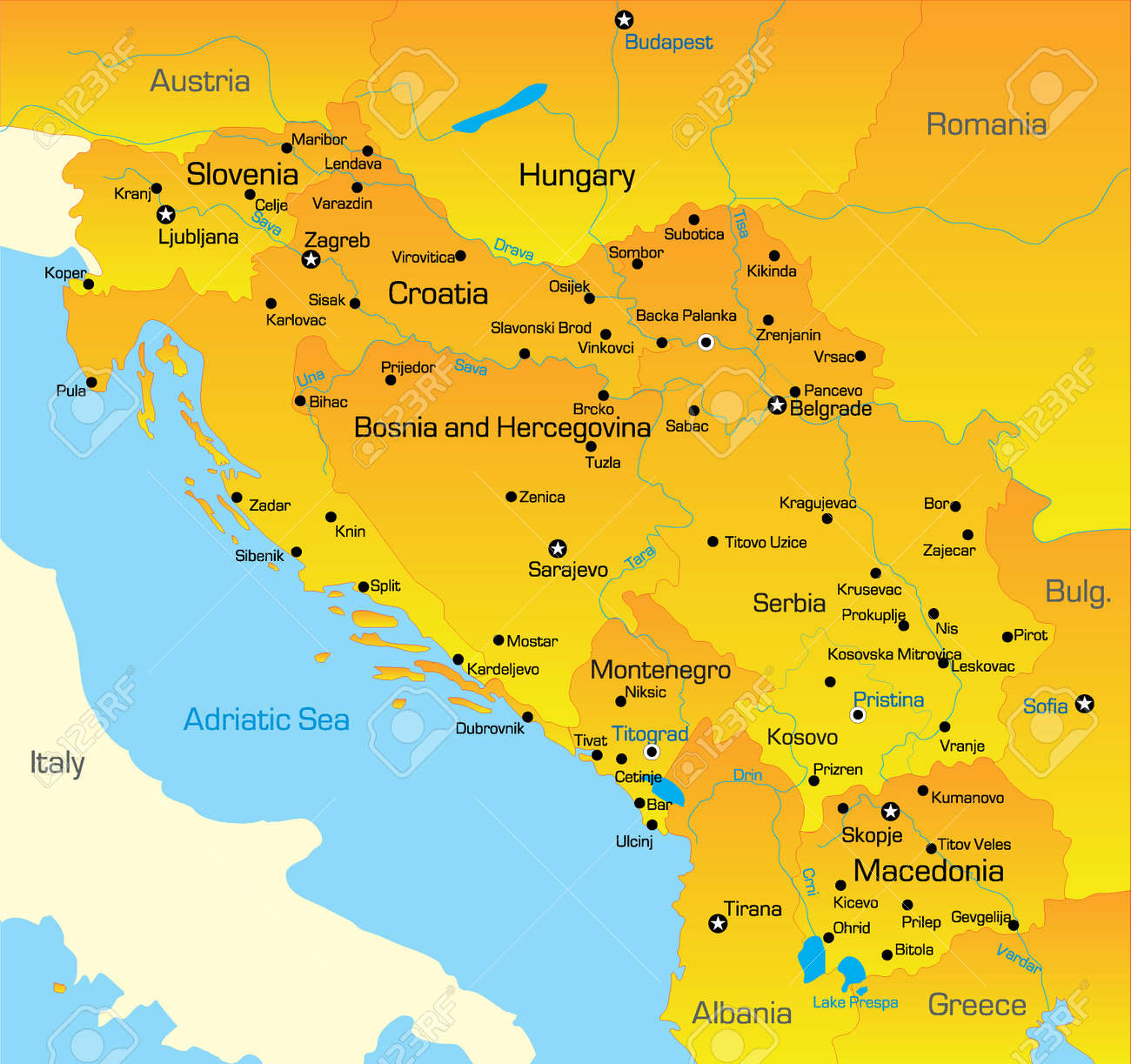 Map Of Adriatic Sea Countries The Best Sea Of 2018