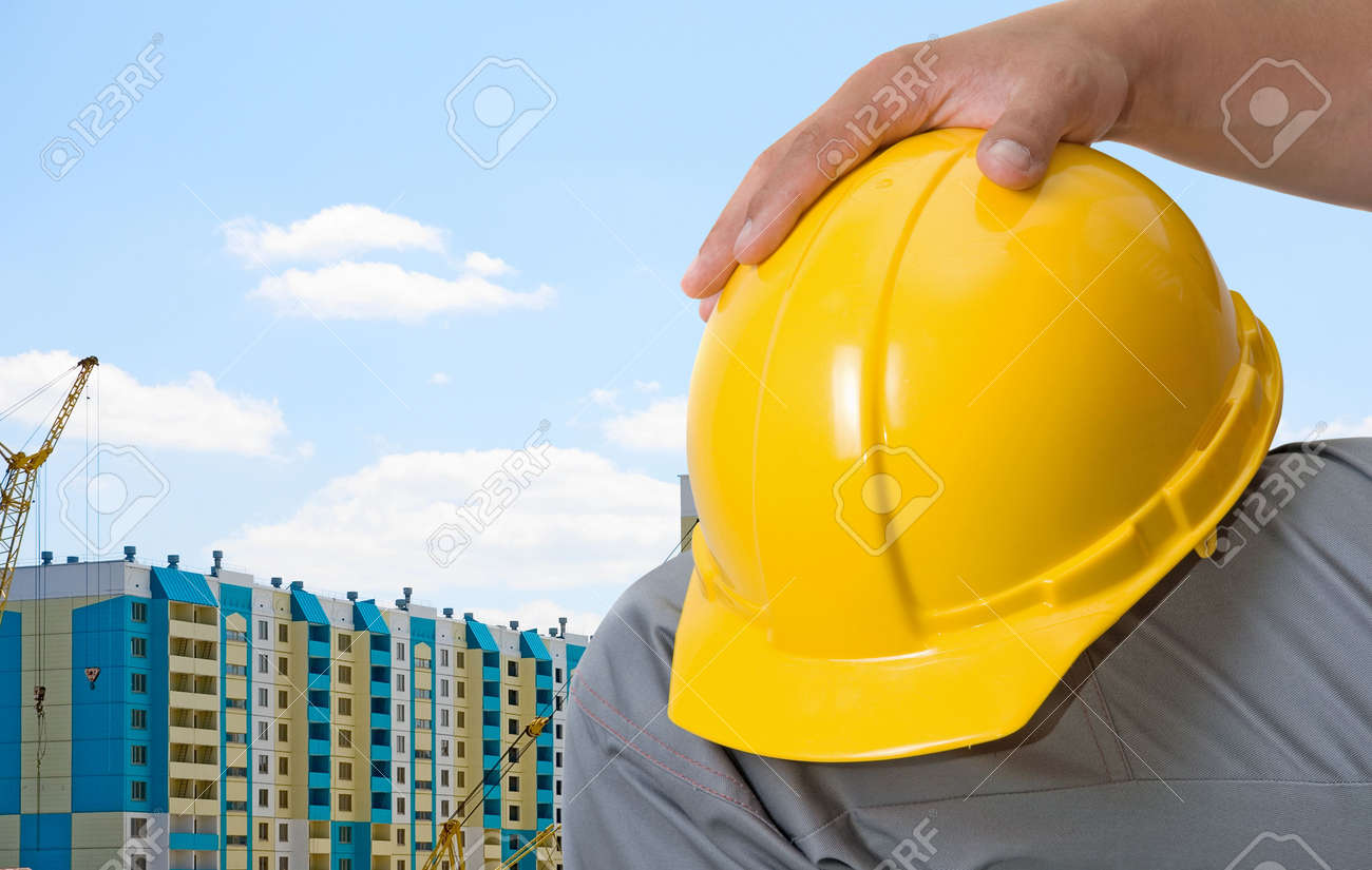 building of multistoried buildings on blue sky background Stock Photo - 5736944