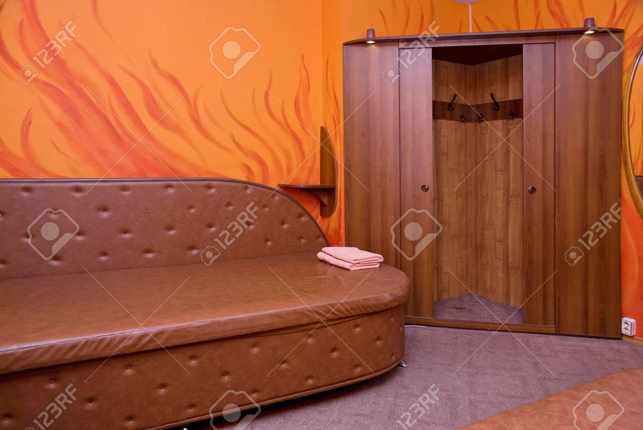 Orange color Living Room in Modern Home Stock Photo - 5805208