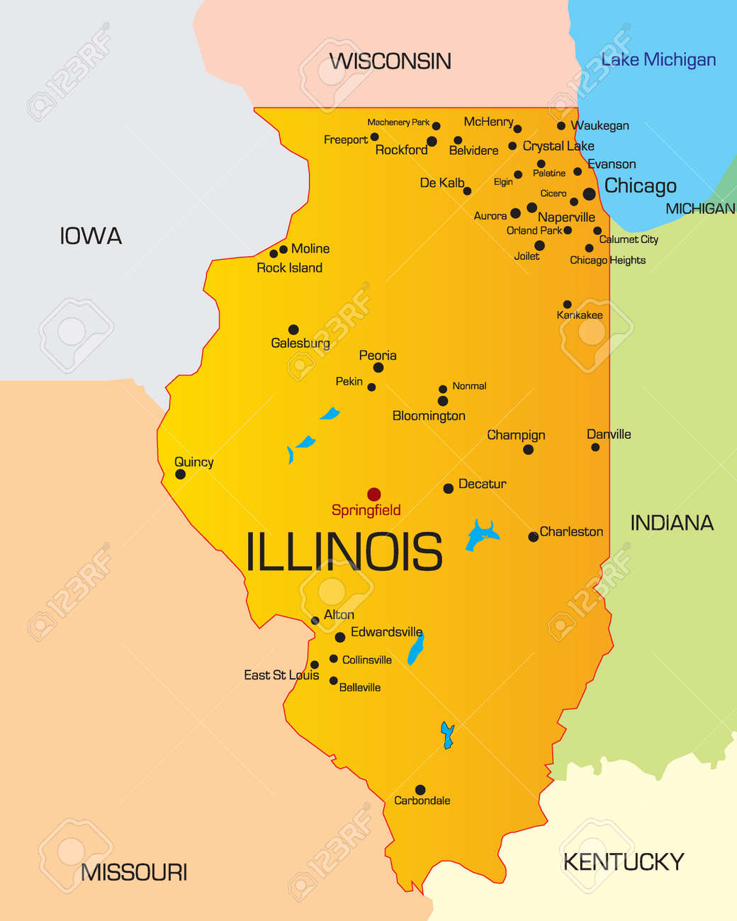 Chicago Wikipedia Map Usa States Chicago Maps Of USA Aocatihir - Illinois on the us map