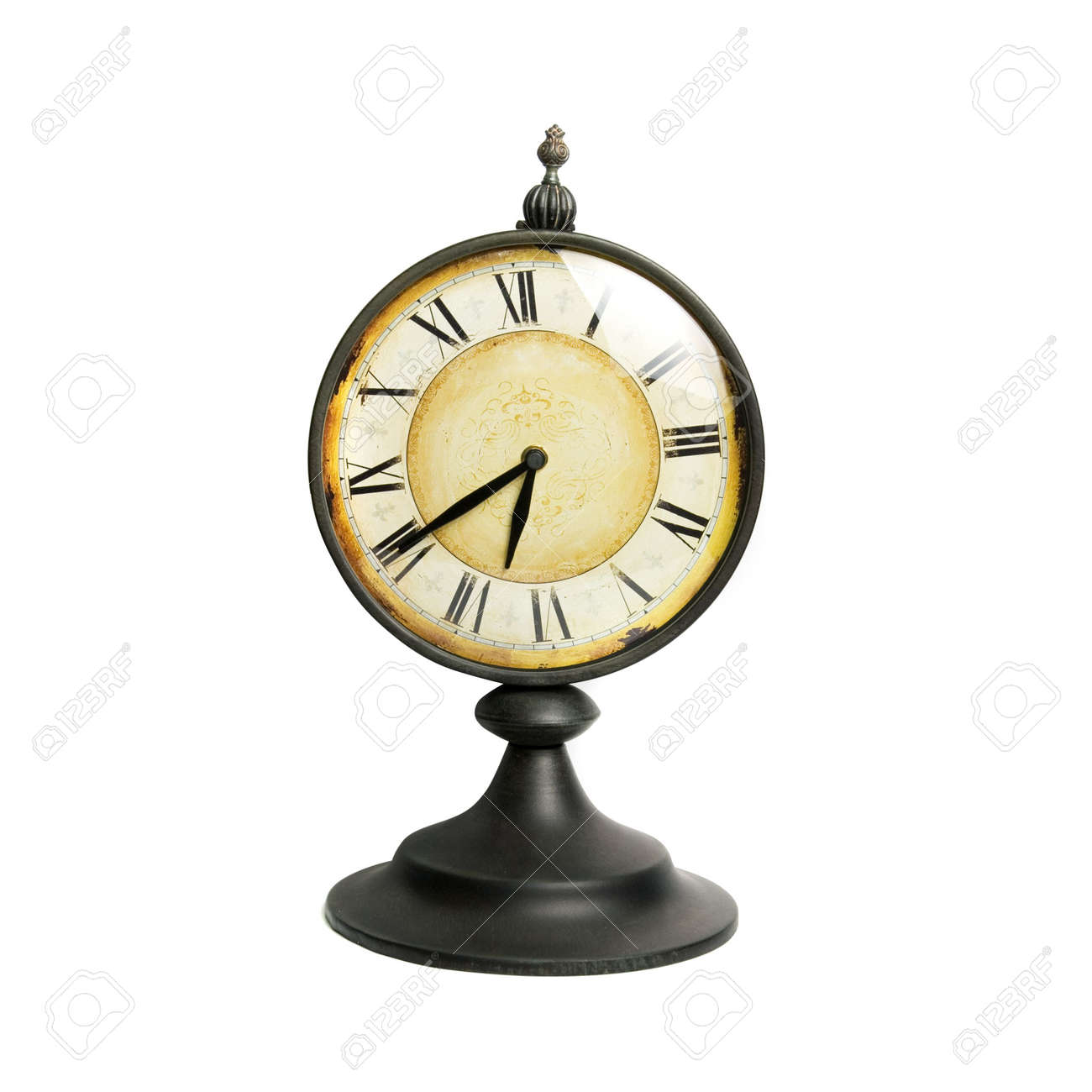 An old vintage clock isolated on a white background Stock Photo - 6397867