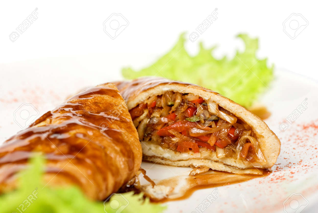 vegetables roasted at omelette closeup Stock Photo - 7023569