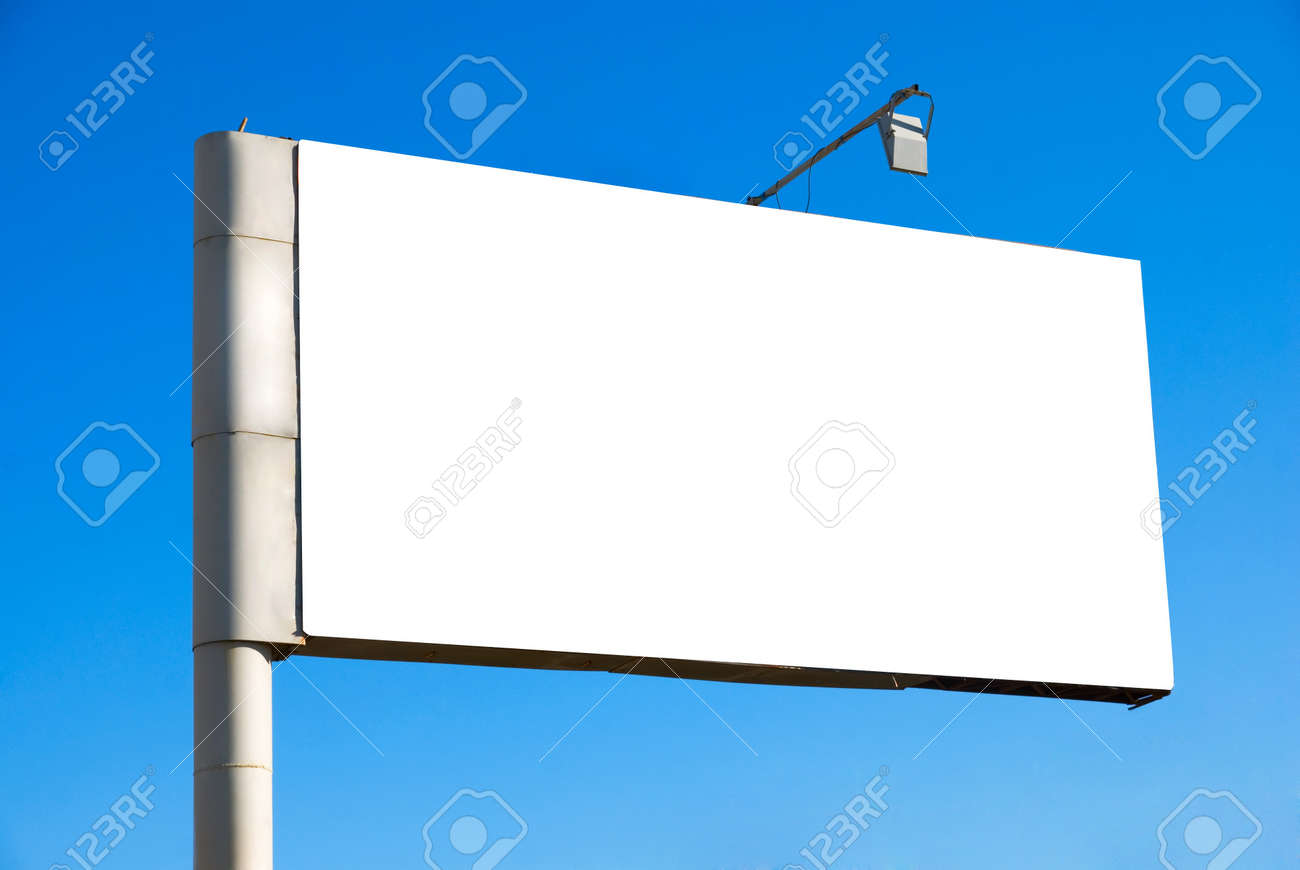 Blank billboard over blue sky background Stock Photo - 7815906