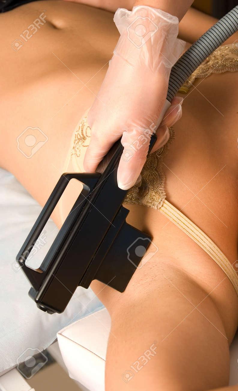 armpit laser epilation of leg in a modern beauty shop Stock Photo - 8080440
