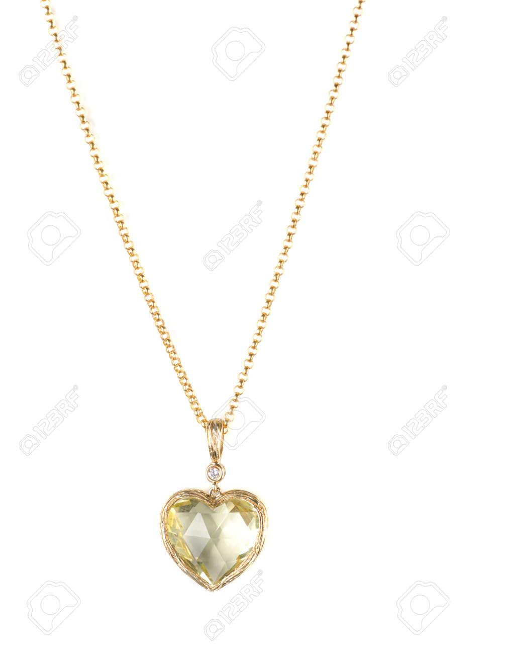 Heart pendant of gold diamond and lemon quartz stock photo picture heart pendant of gold diamond and lemon quartz stock photo 8813728 mozeypictures Images