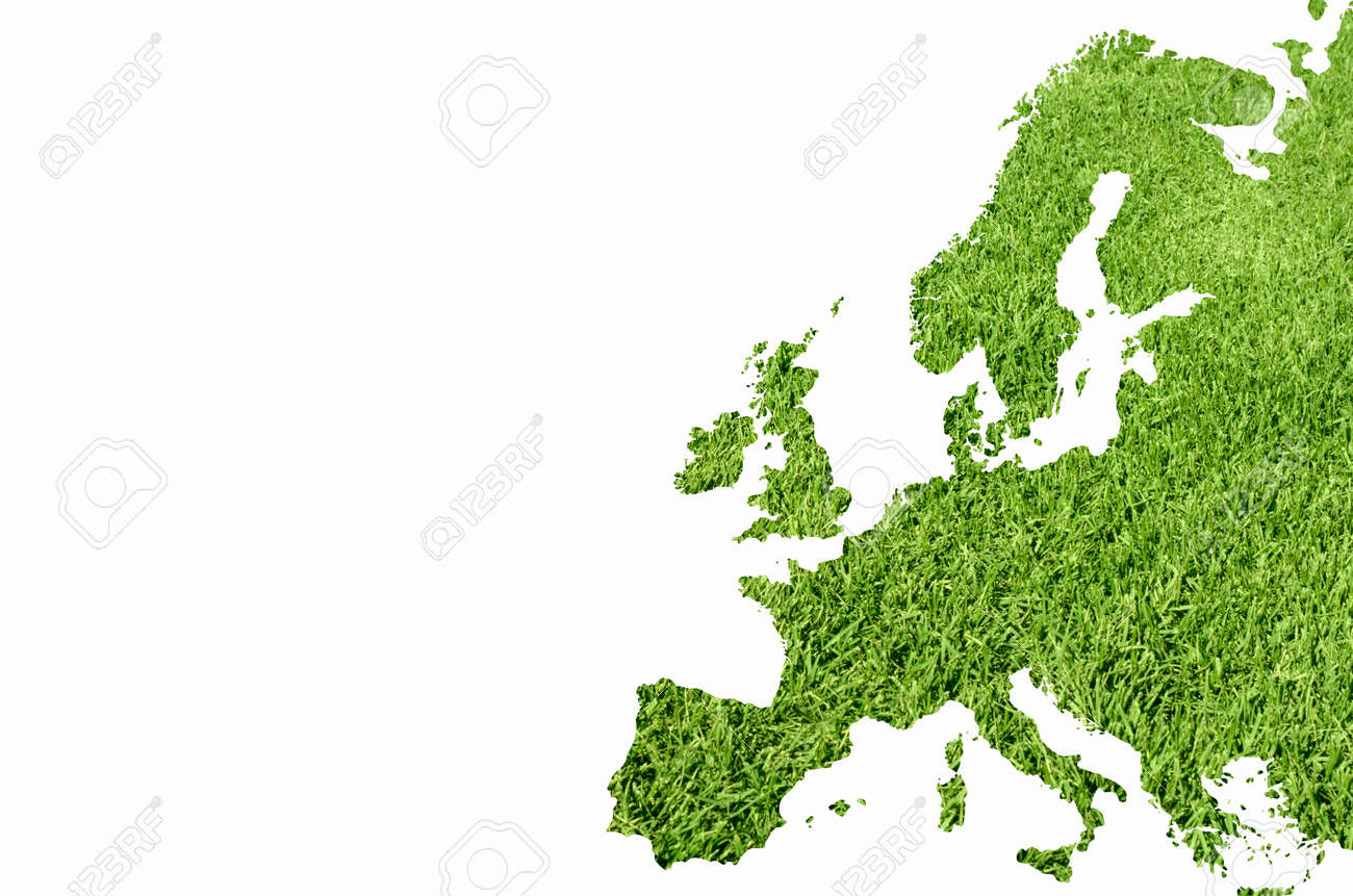 Europe map from green grass texture Stock Photo - 12888219
