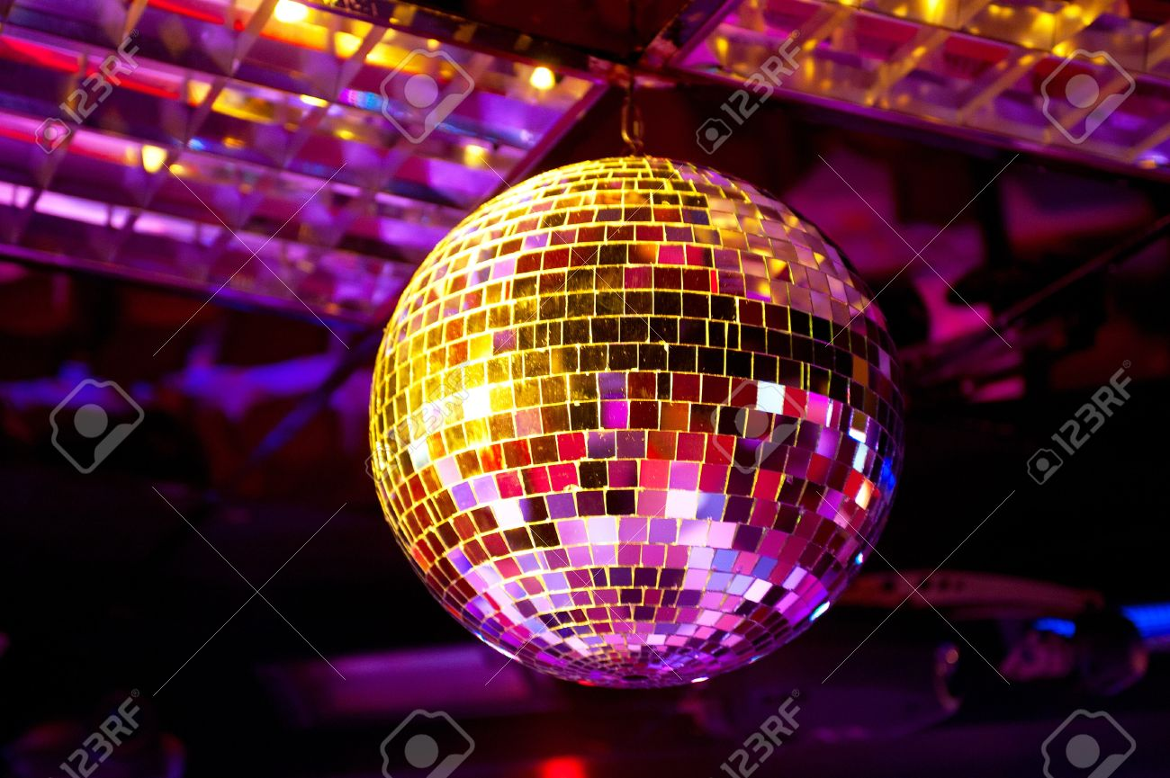 Disco Ball Light Reflection Background Stock Photo   13930621