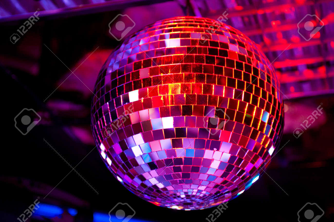 Disco Ball Light Reflection Background Stock Photo   14330767 Design