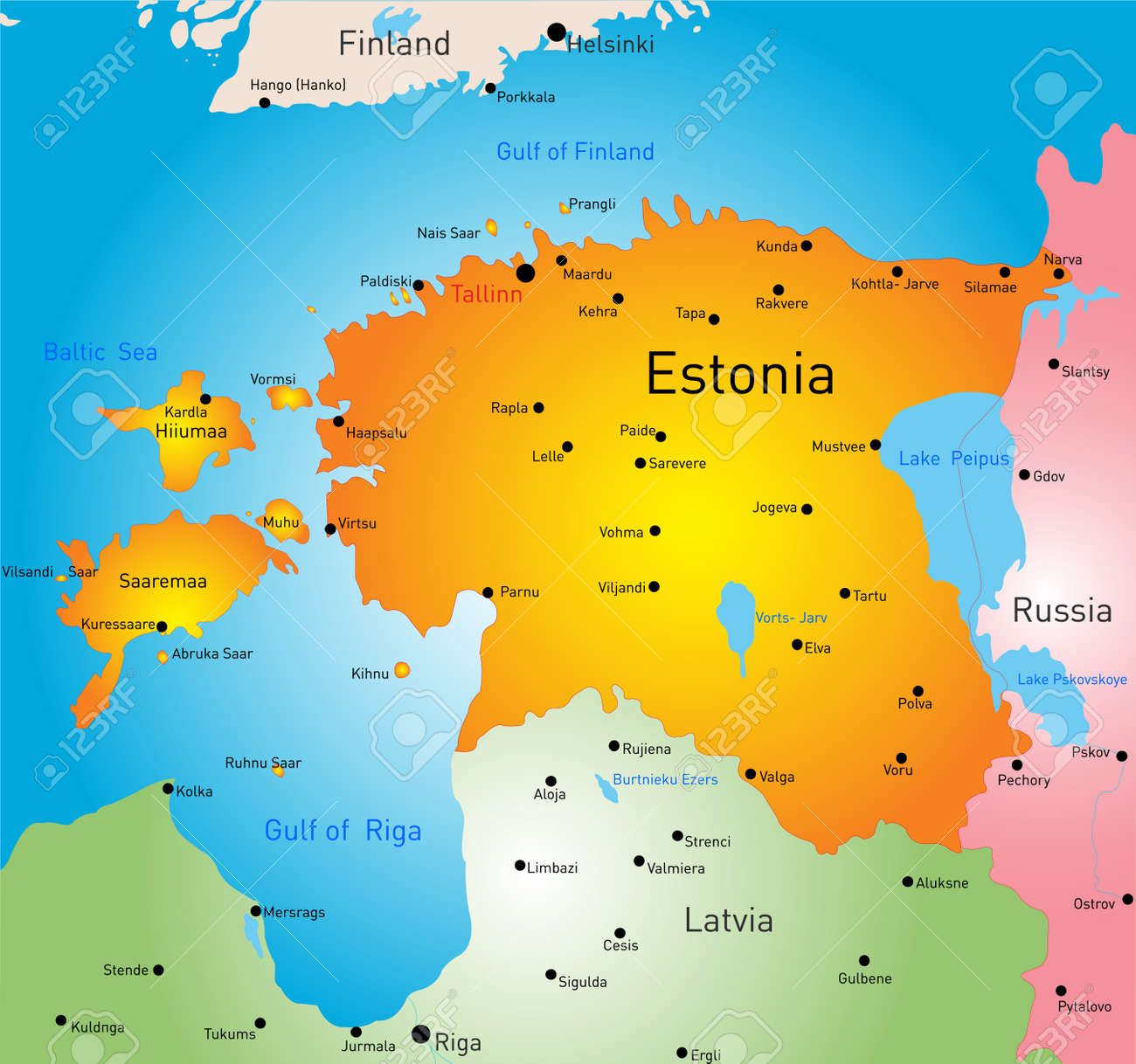 Vector color map of estonia country royalty free cliparts vectors vector vector color map of estonia country gumiabroncs Choice Image