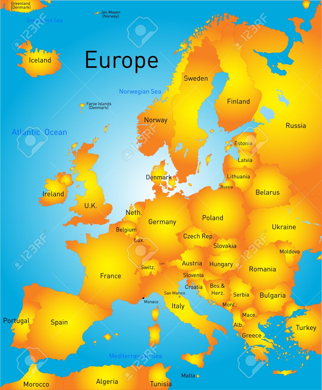 Vector Map Of Europe Continent Royalty Free Cliparts Vectors And – Map of Europe Continent