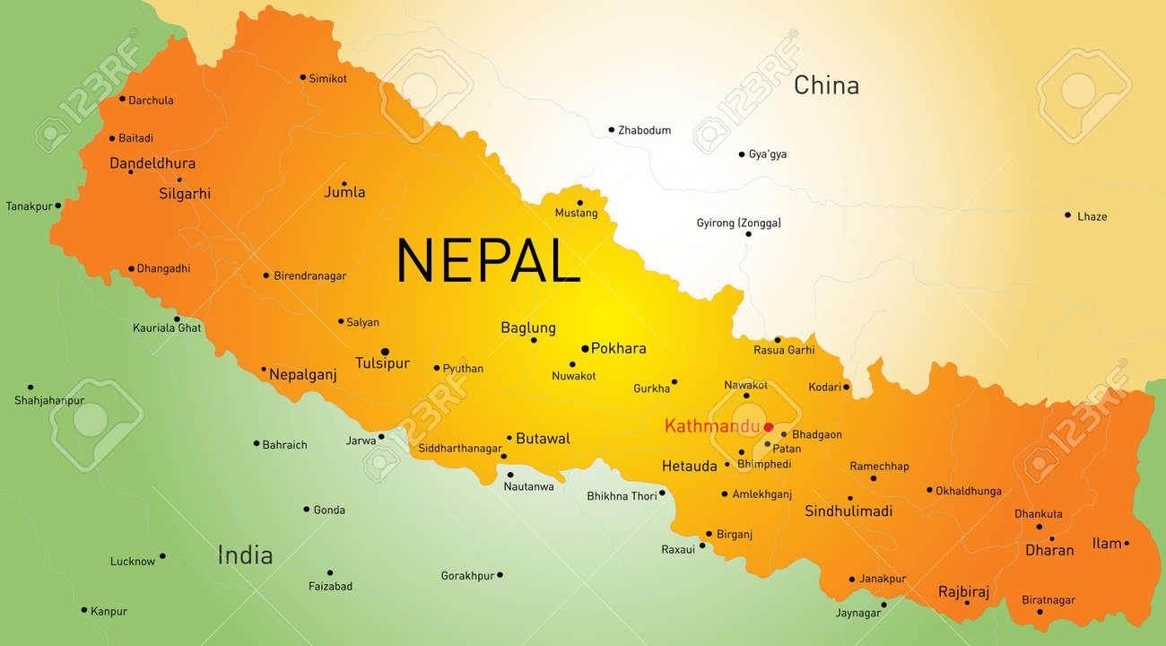 Resultado de imagen de mapa de nepal
