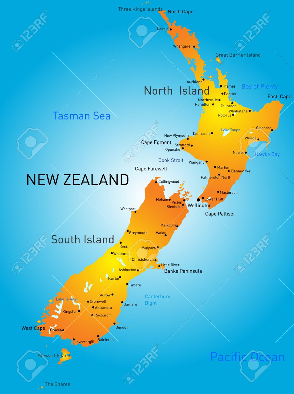 Image result for New Zealand map