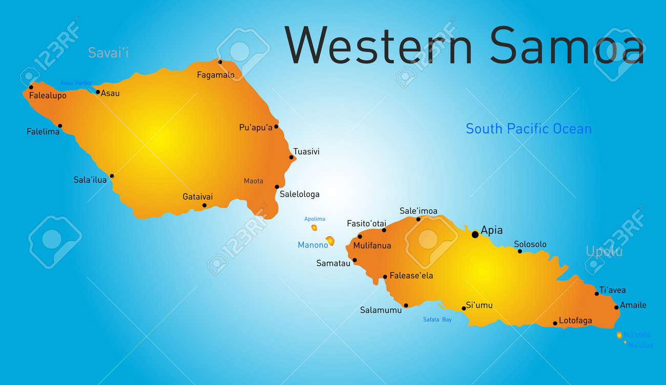 vector vector color western samoa map
