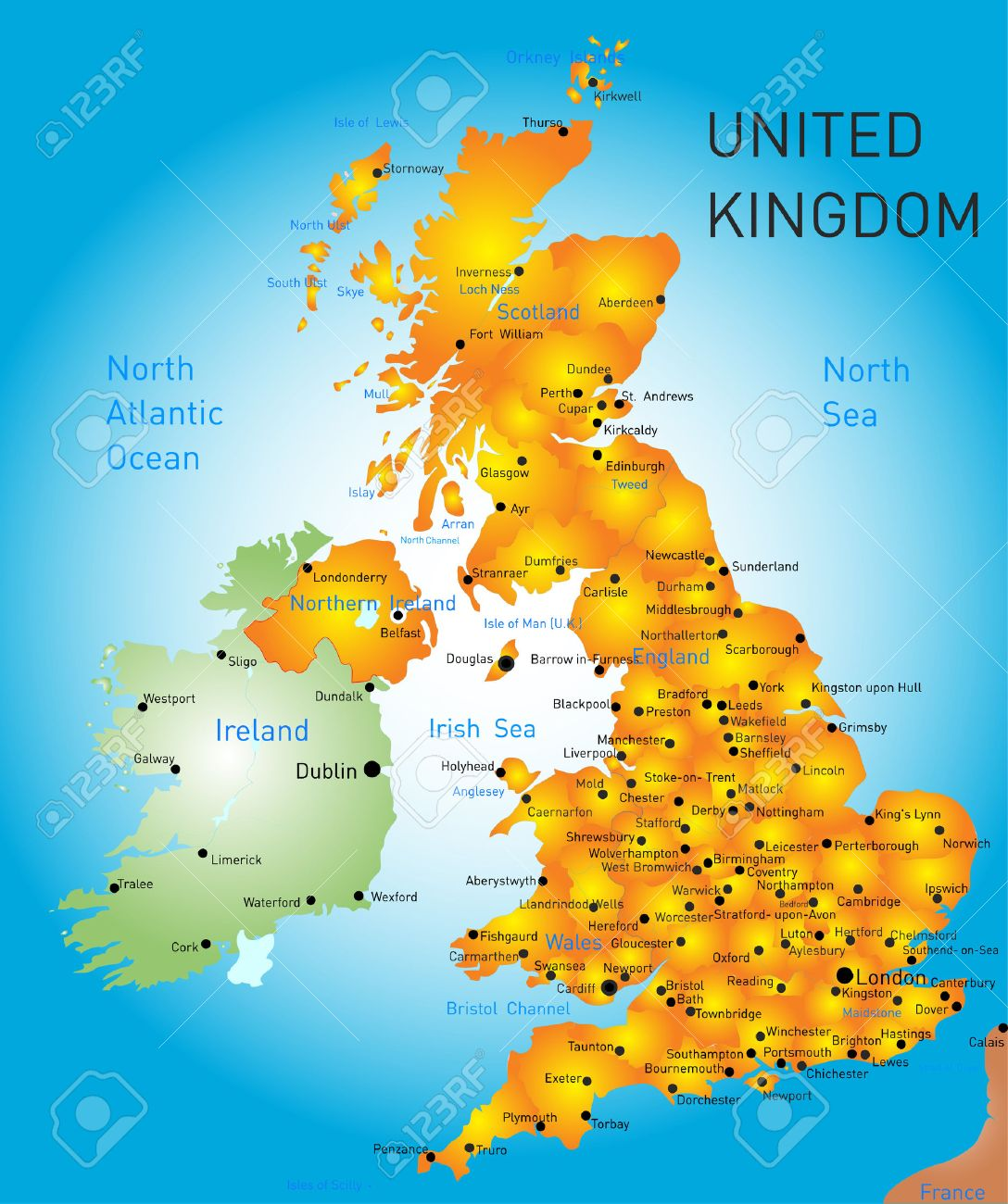 Vector Color Map Of United Kingdom Royalty Free Cliparts Vectors - United kingdom map