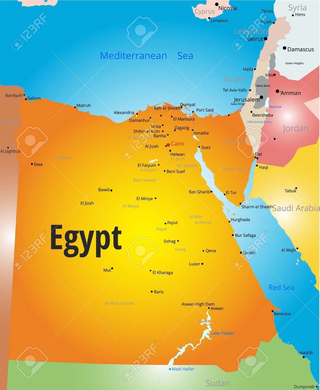 Karte Von ägypten.Stock Photo
