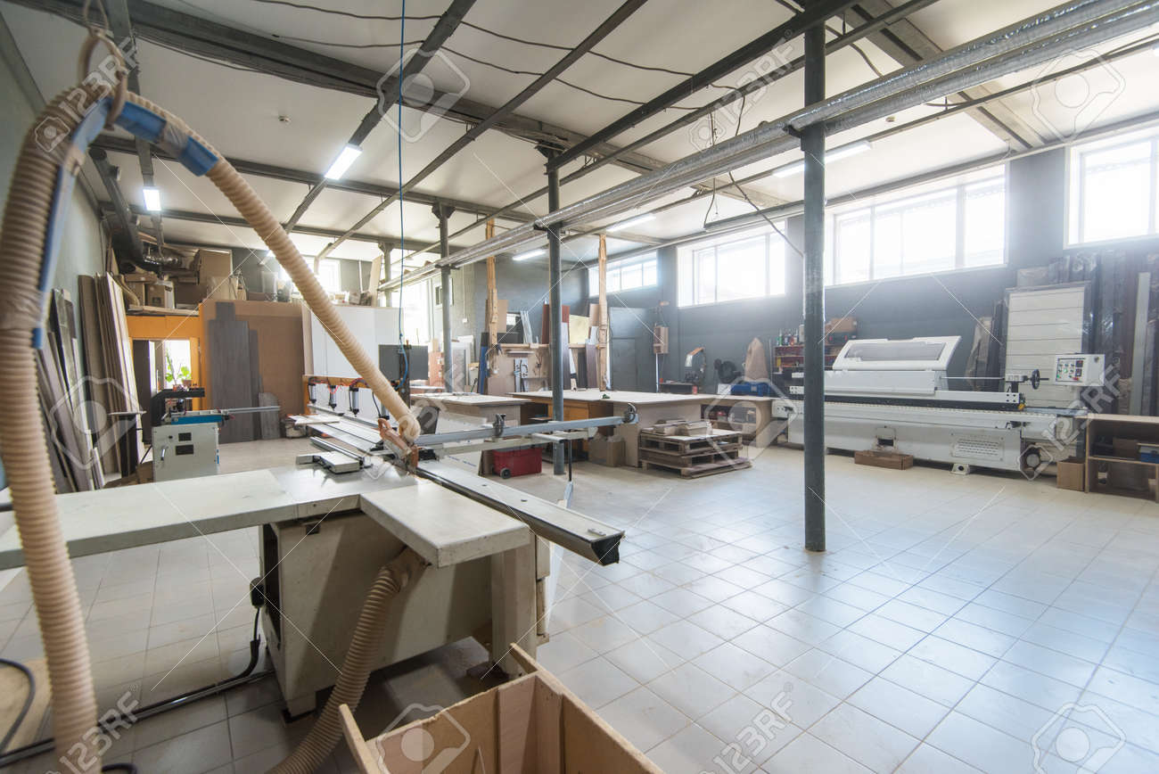 Production Department At A Furniture Factory Without People