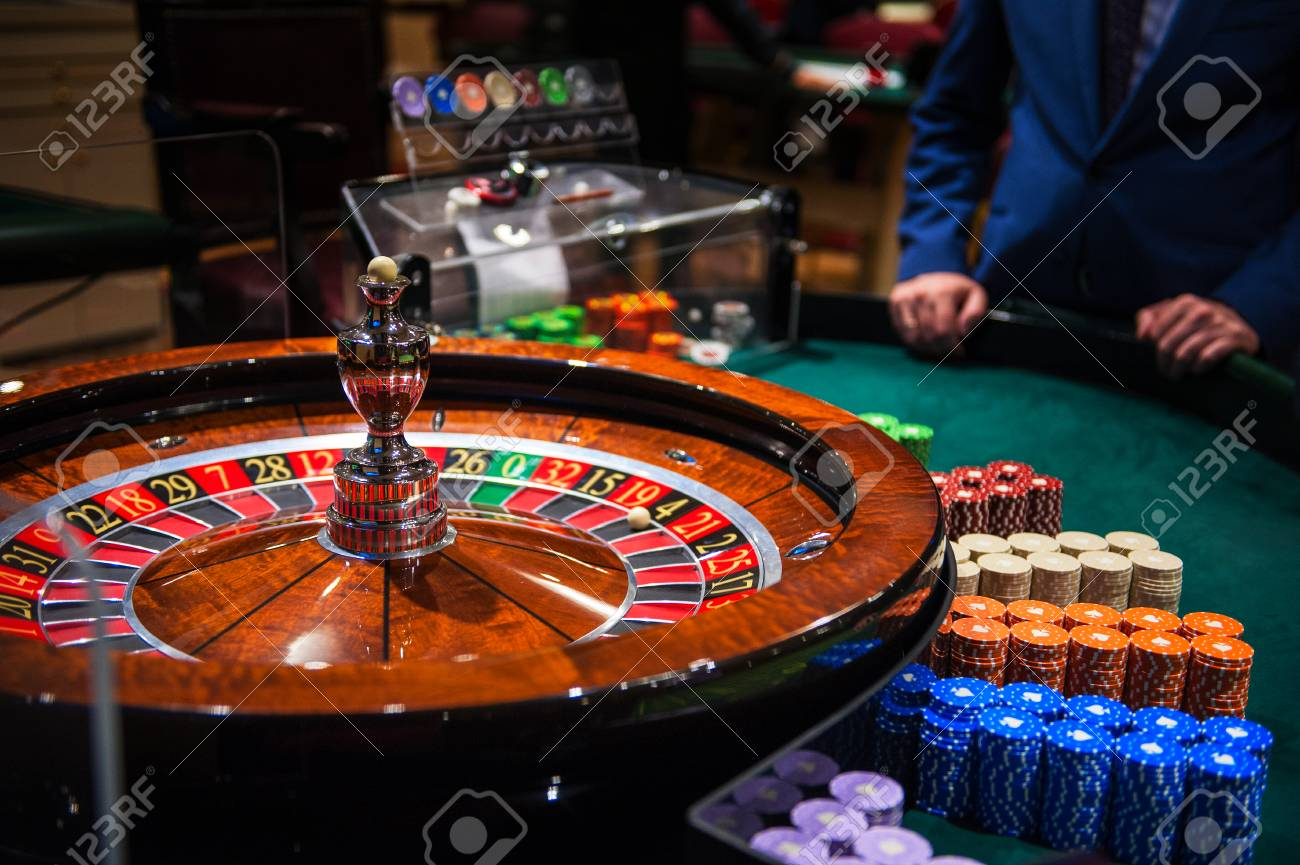 Casino Gambling And Entertainment Concept Roulette Table And Stock Photo Picture And Royalty Free Image Image 116634259