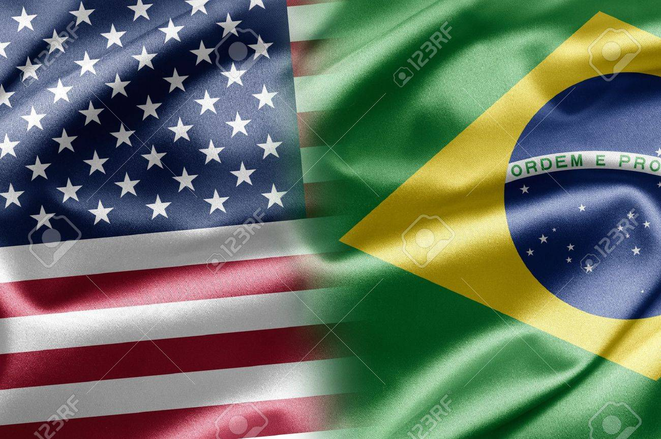 Handmade watercolor brazil flag brasil stock photos freeimages com - Brazil Flag Business Usa And Brazil