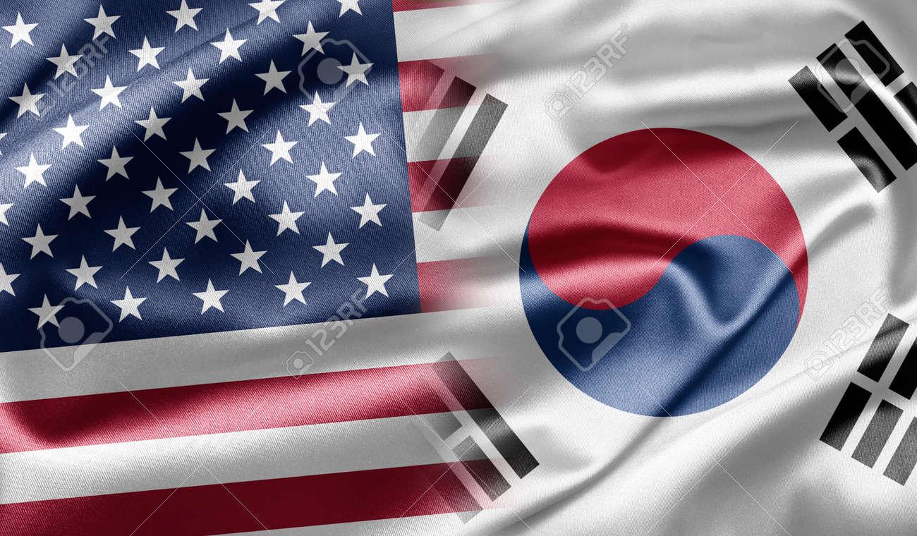United States and South Korea Stock Photo - 13218196