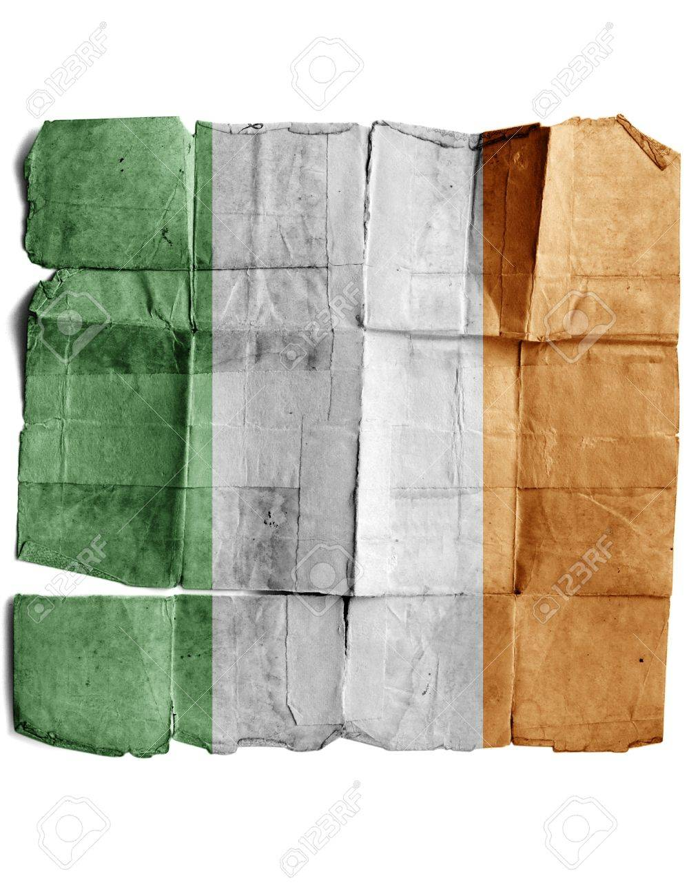 Ireland flag on old paper. Stock Photo - 17463141