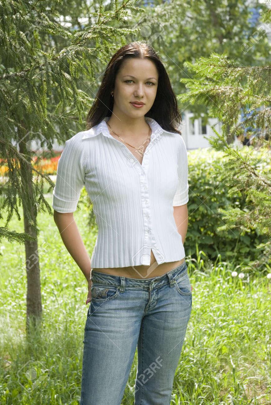 beauty female model posing. attractive fashion girl Stock Photo - 2298540