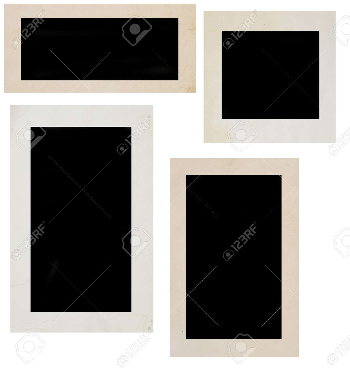 photo frames over white background Stock Photo - 4126290