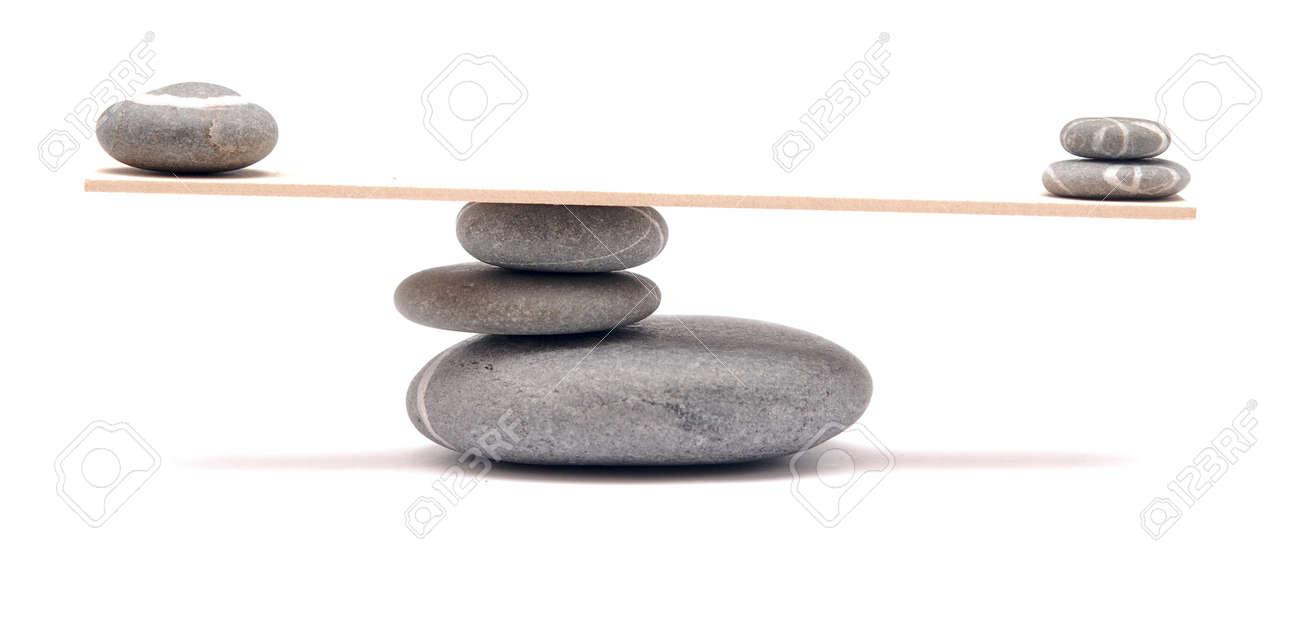 balancing stones on white - 10666442