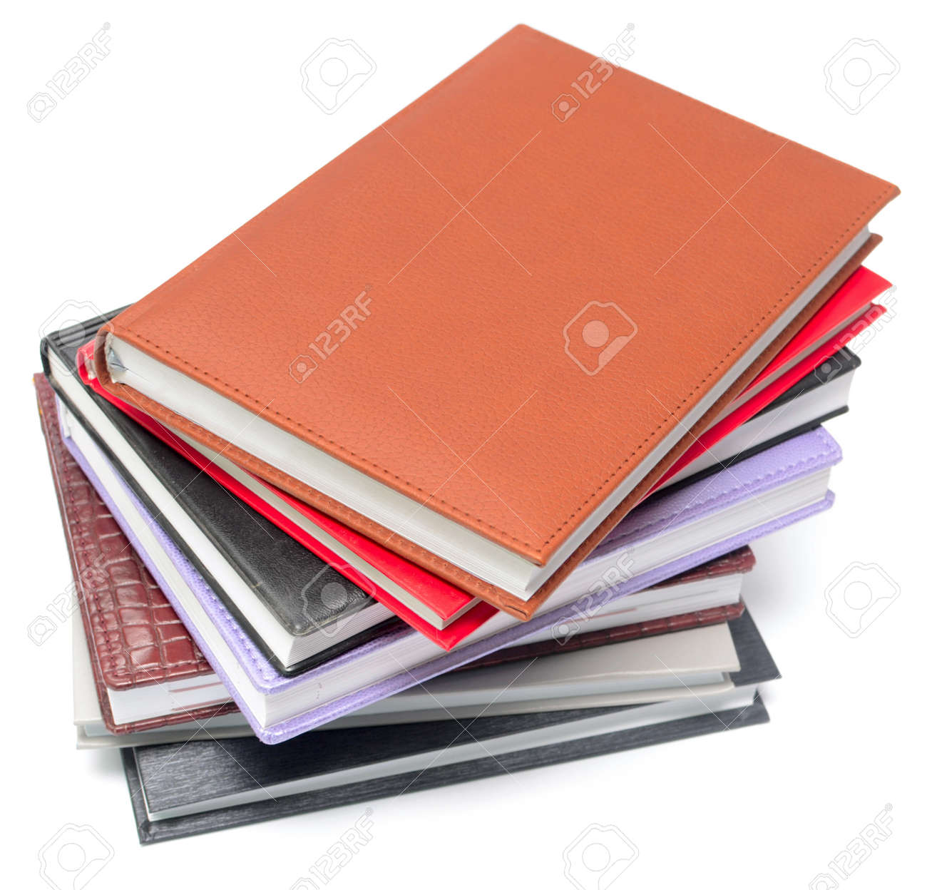 stack of colorful books isolated on white Stock Photo - 10980079