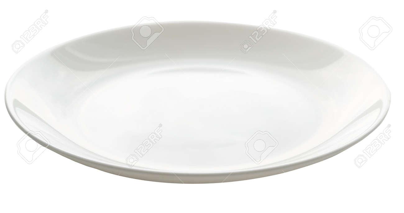 empty plate isolated on white Standard-Bild - 15400883