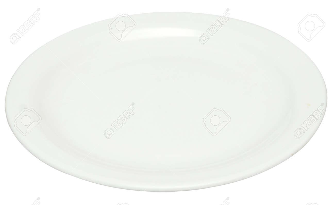 empty plate isolated on white Standard-Bild - 15397766