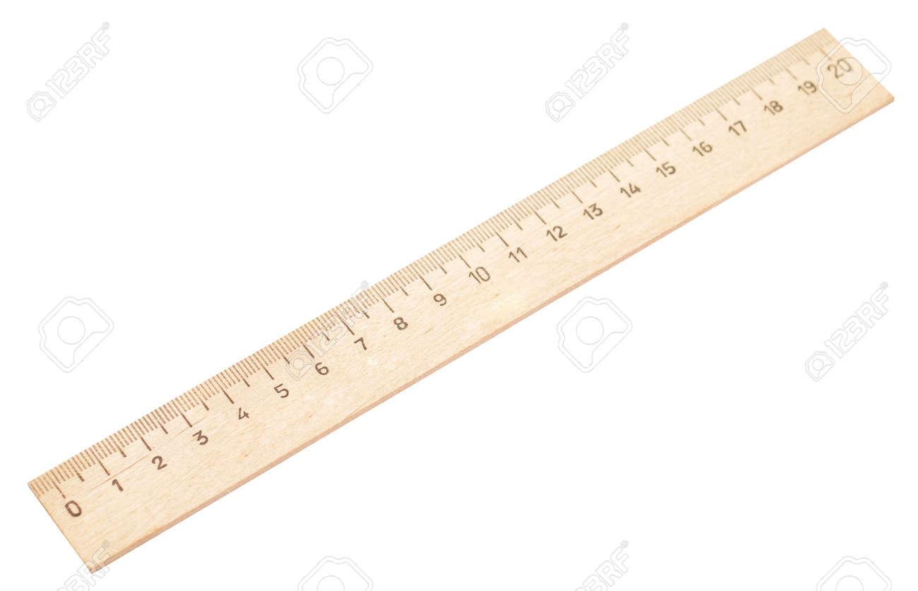 wooden ruler isolated on white Standard-Bild - 16261718