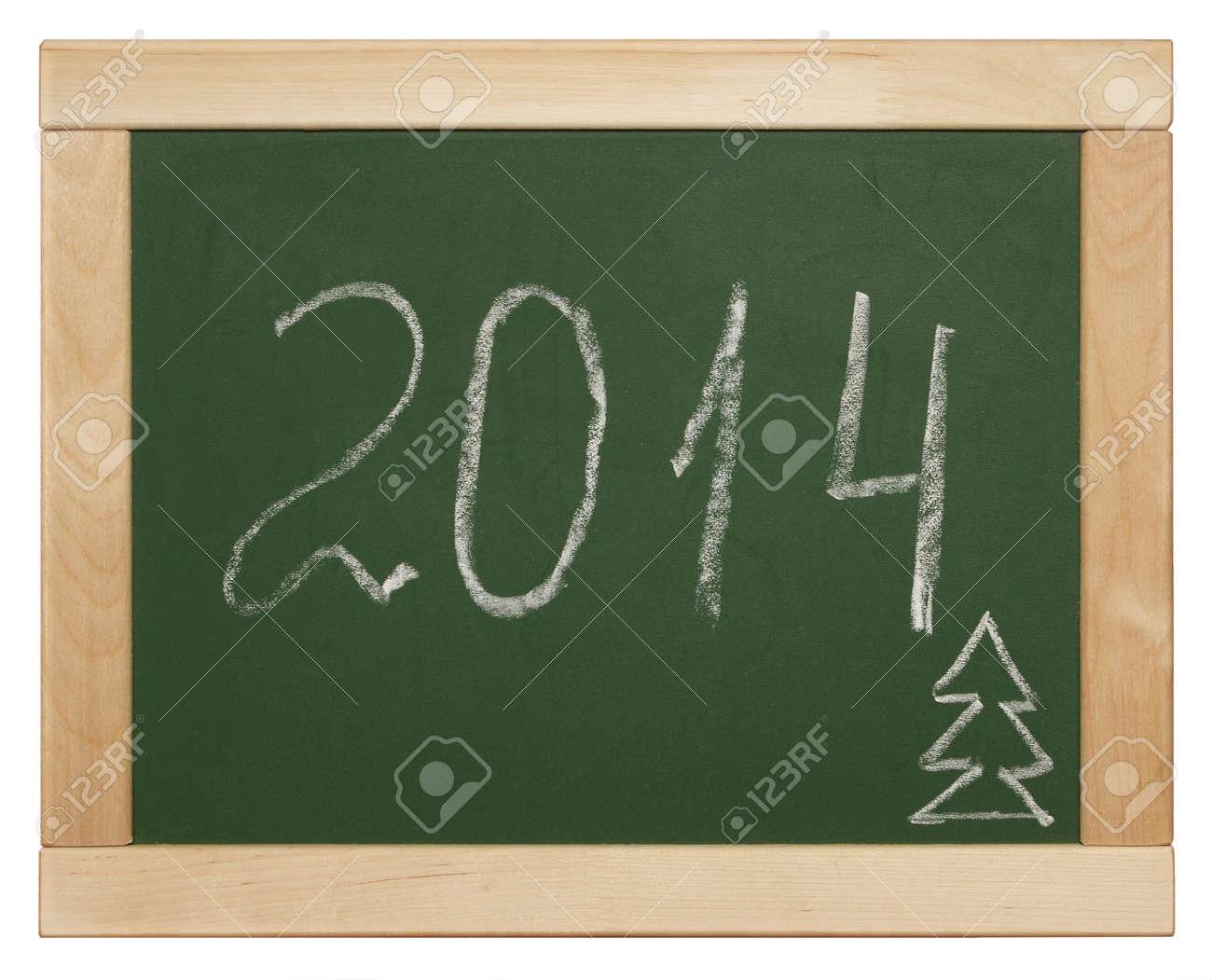 2014 written on blackboard Stock Photo - 26363959