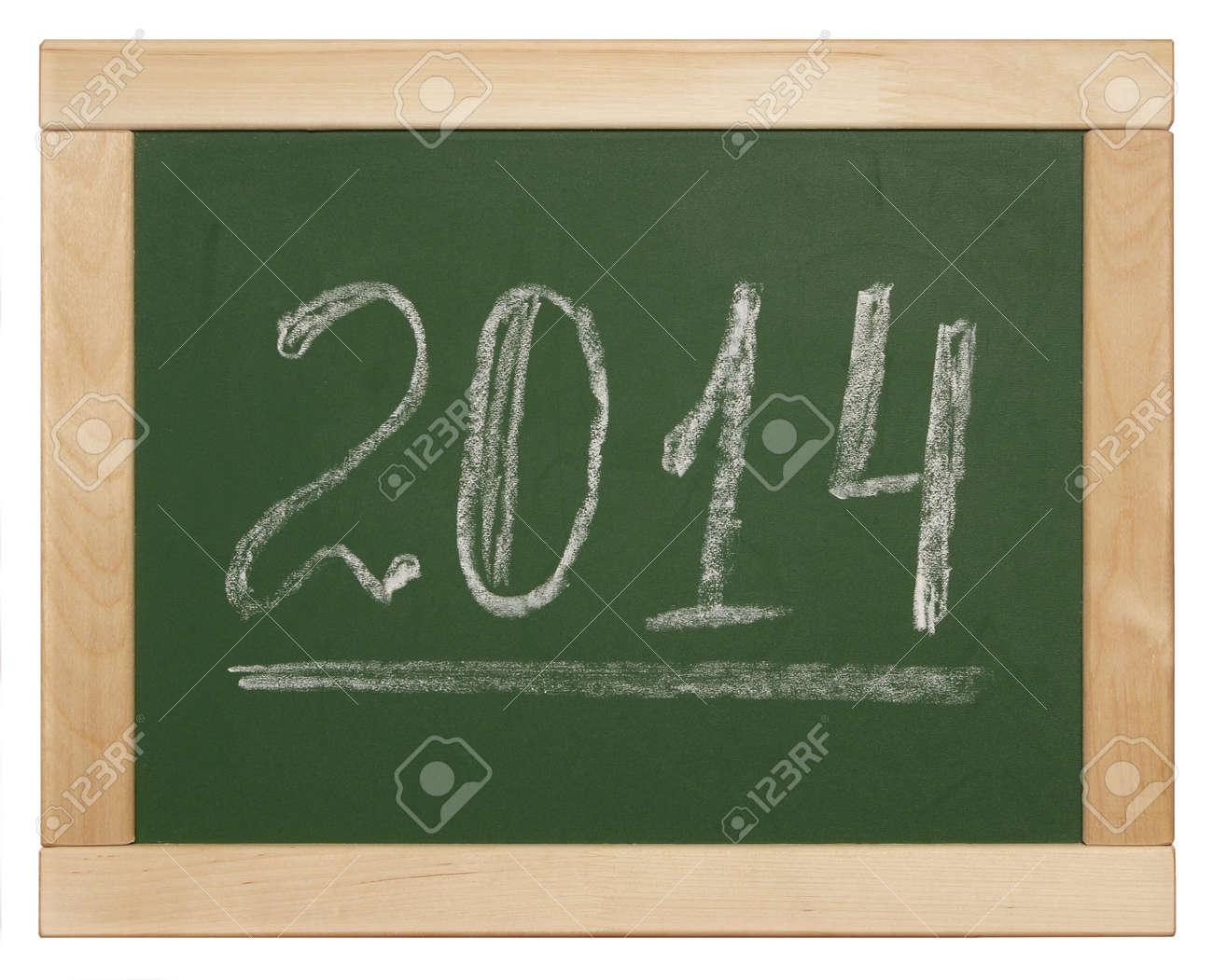 2014 written on blackboard Stock Photo - 26363963