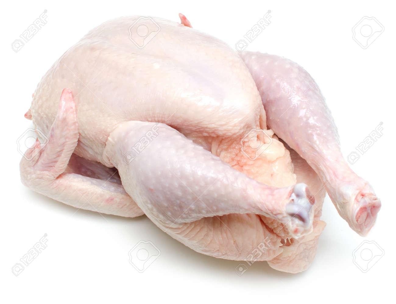 raw chicken isolated on wihte background Standard-Bild - 27500302
