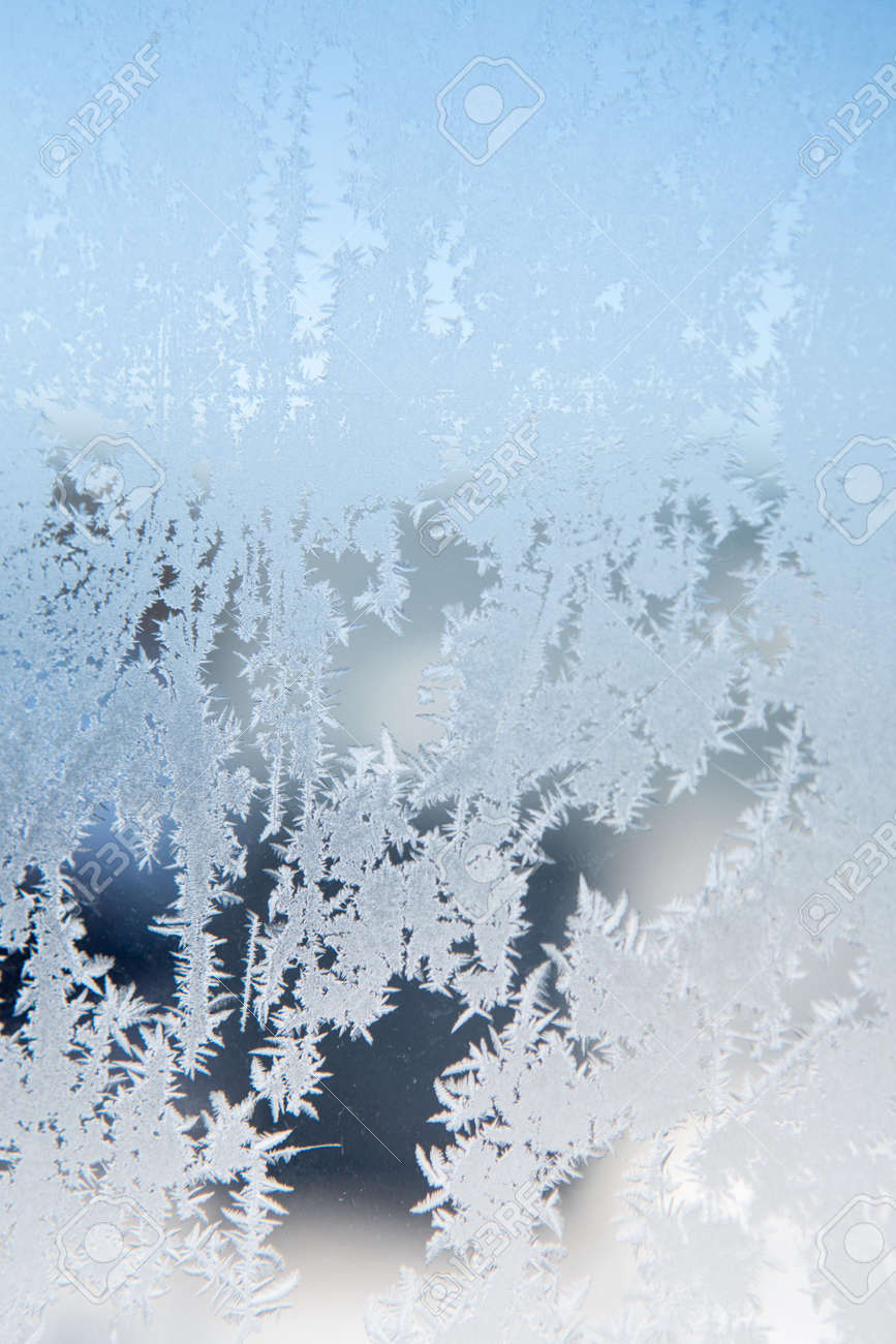 ice patterns on winter glass Stock Photo - 18842050